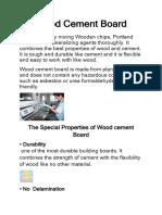 Wood Cement Board