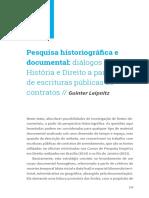 Pesquisa Historiografica e Documental