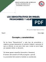 Tema 8 Los Adjeivos Demostrativos