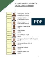Diputados que hicieron posible la Reforma Previsional