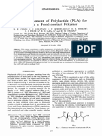 Safety Assessment of Polylactide (PLA) for Use as a Food-contact Polymer