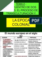 Cuadro Historia Epoca Colonial