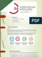 Cisa – Certificación de Auditor de Sistemas De