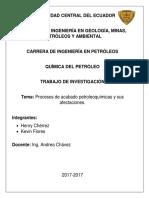 Procesos petroquímicos.
