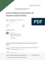 Karst Hazard Assessment of Eastern Saudi Arabia
