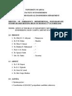 Departmental PG Board Meeting - 17th October 2016