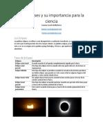 Los Eclipses y Su Importancia Para La Ciencia