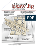 Universal Tablesaw Jig With Laser Accuracy