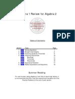 Algebra 2 Reivew Book