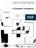P. Tauvel-Exercices d'Analyse Complexe