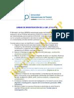Líneas de Investigación de La UIP