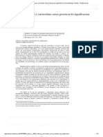 Da Silva T 1998 Cultura y Curriculum Como Practicas de Significacion