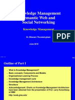 Knowledge Management Semantic Web and Social Networking