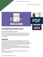 Guía Definitiva Para Saber Facturar - Escuela Freelance