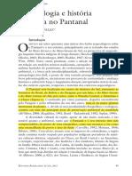 Arqueologia e Historia Do Pantanal