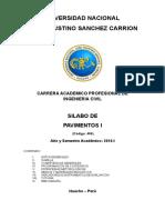 Silabo-Pavimentos I 2016-1