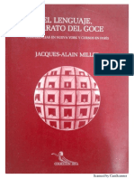 Los seis paradigmas del goce (en El Lenguaje, Aparato Del Goce) Miller