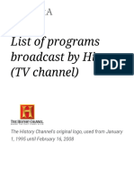 List of Programs Broadcast by History (TV Channel)