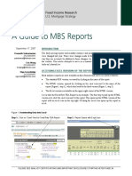 Barclays a Guide to MBS Reports