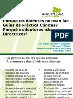 Porqué los doctores no usan las GPC