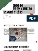 Protocolo de Muestreo en Cabello Sangre y Uñas