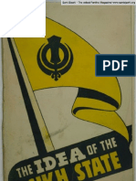 The Idea of the Sikh State (1946) - by Gurbhachan Singh & Lal Singh