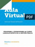 Programa curso Lenguaje Escrito en La Gestión Publica