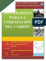 Tecnologías Para Coquización Del Carbón
