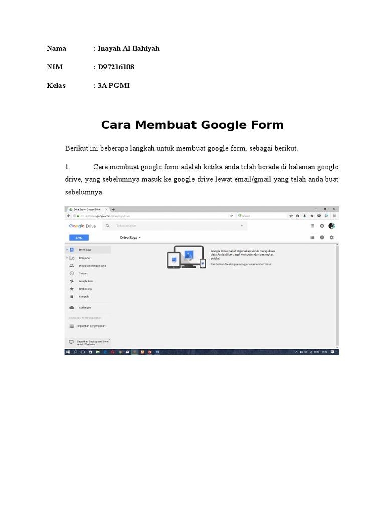 Tutorial Google Form