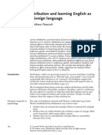 Attribution and Learning English as a Foreign Language