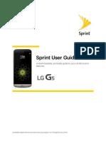 Sprint User Guide LG G5