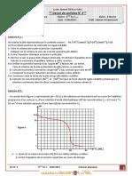 Devoir de Synthèse N°3 - Sciences physiques - Bac Technique (2010-2011) Mr Akermi Abdelkader