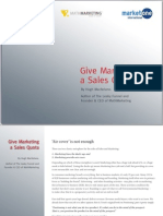 Give Marketing a Sales Quota