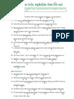150 Câu Bài Tập Tìm Lỗi Sai Có Đáp Án