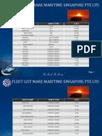 Fleet List