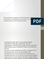 Pharmacokinetic Comparison and Bioequivalence of a New Generic