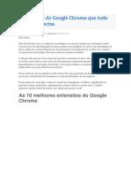 10 Extensões Do Google Chrome Que Todo Estudante Precisa