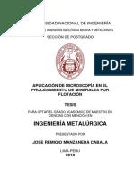 APLICACIÓN DE MICROSCOPÍA EN EL PROCESAMIENTO DE MINERALES POR FLOTACIÓN.pdf