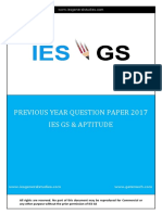 Ies Gs Question Paper 2017