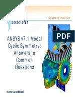 Cyclic Symmetry Topics 0
