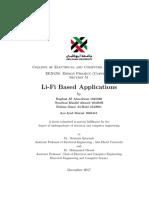 Li-Fi Based Application Final Report