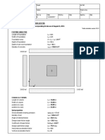 Isolated Column Footing Example