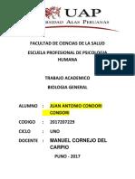 Trabajo Encargado de Biologia General 2017207229 Cereondori Condori Juan