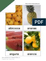 Card Frutta montessori