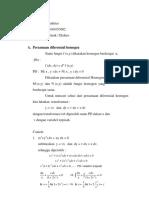 Persamaan Diferensial Bernoulli