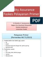 Quality Assurance Faskes Pelayanan Primer.pptx