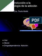 Neurobiologia de Las Adicciones