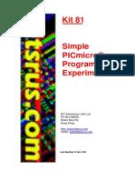 Kit 81 Simple PICMicro Programmer 2002