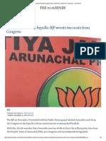 Arunachal Pradesh Bypolls_ BJP Wrests Two Seats From Congress - The Hindu