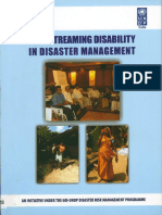 Mainstreaming Disability in Disaster Management Toolkit INDIA UNDP